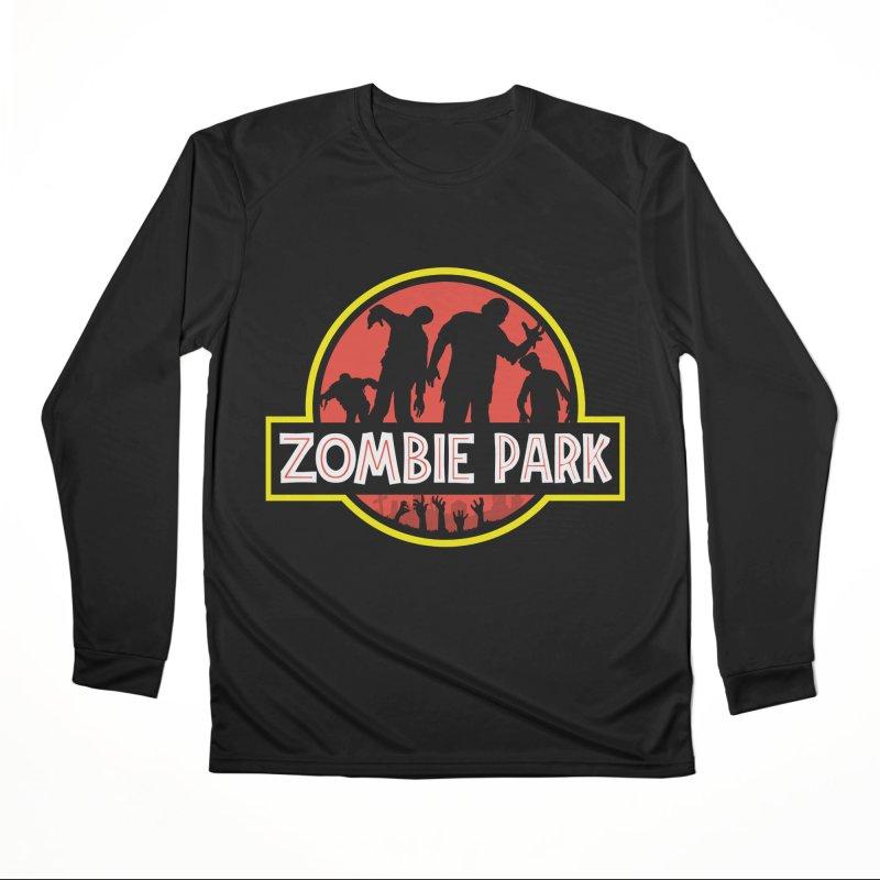 Zombie Park Men's Performance Longsleeve T-Shirt by clingcling's Artist Shop