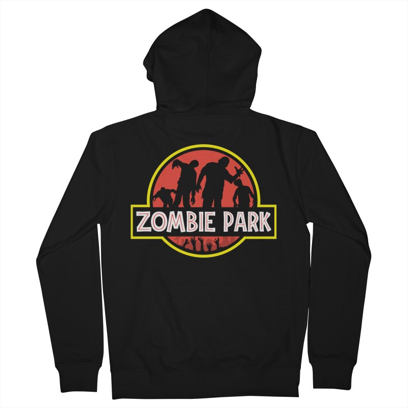 Zombie Park Men's French Terry Zip-Up Hoody by clingcling's Artist Shop