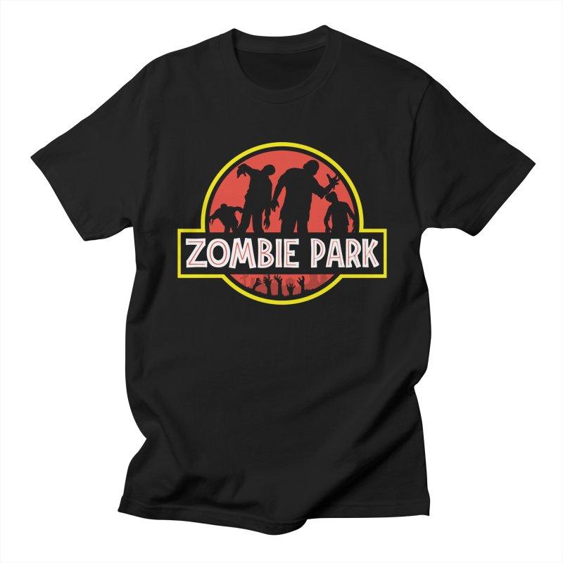 Zombie Park Men's Regular T-Shirt by clingcling's Artist Shop