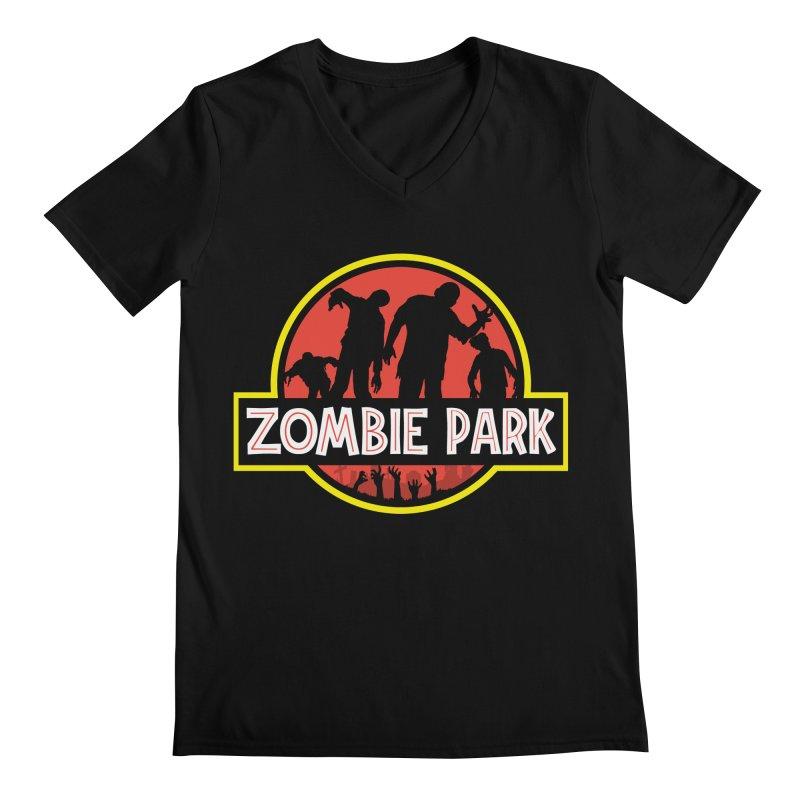 Zombie Park Men's Regular V-Neck by clingcling's Artist Shop
