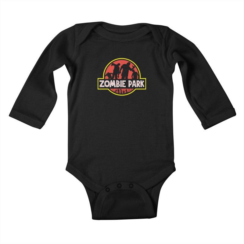 Zombie Park Kids Baby Longsleeve Bodysuit by clingcling's Artist Shop