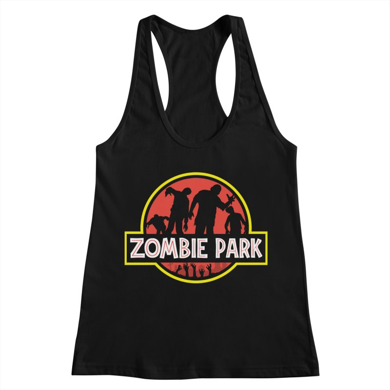 Zombie Park Women's Racerback Tank by clingcling's Artist Shop