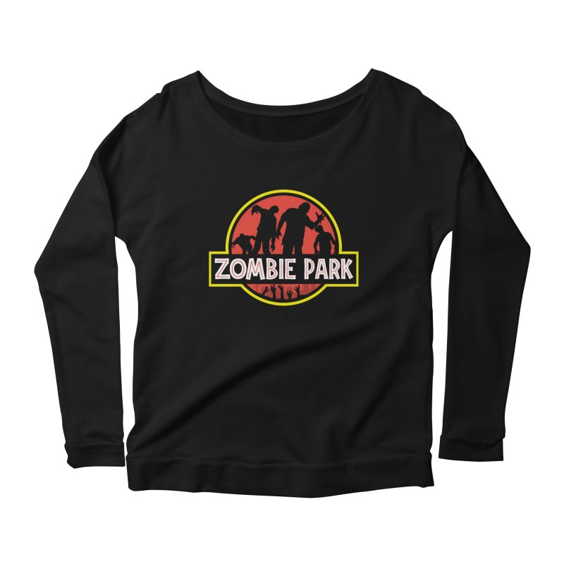 Zombie Park Women's Scoop Neck Longsleeve T-Shirt by clingcling's Artist Shop