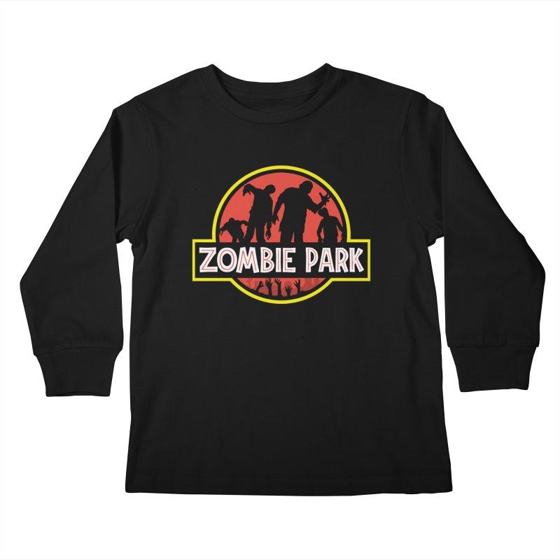 Zombie Park Kids Longsleeve T-Shirt by clingcling's Artist Shop