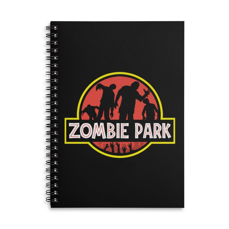 Zombie Park Accessories Lined Spiral Notebook by clingcling's Artist Shop
