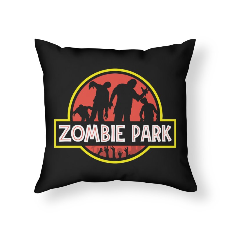 Zombie Park Home Throw Pillow by clingcling's Artist Shop