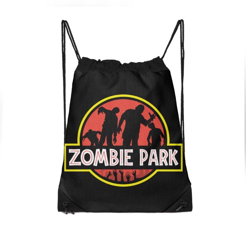 Zombie Park Accessories Drawstring Bag Bag by clingcling's Artist Shop