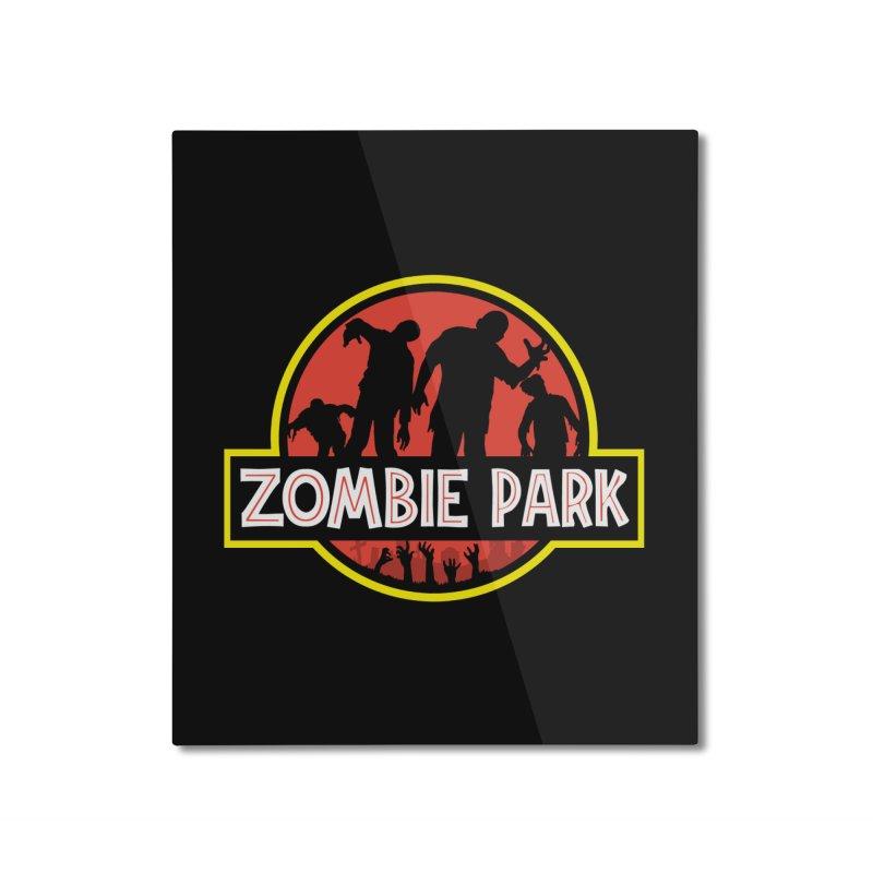 Zombie Park Home Mounted Aluminum Print by clingcling's Artist Shop
