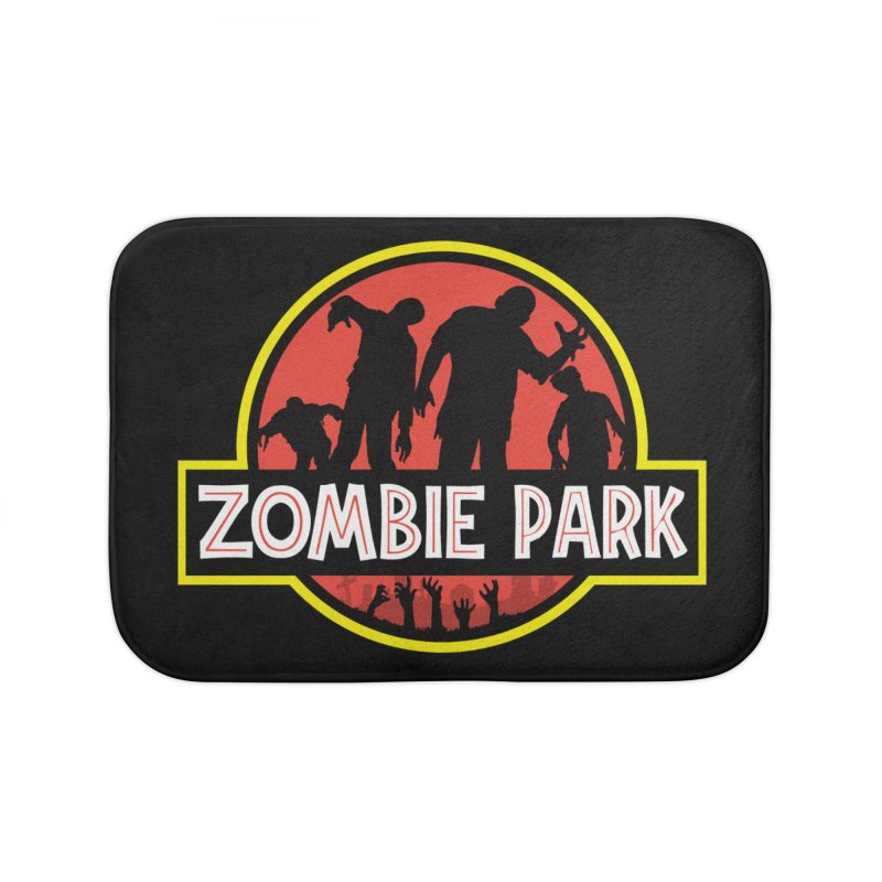 Zombie Park Home Bath Mat by clingcling's Artist Shop