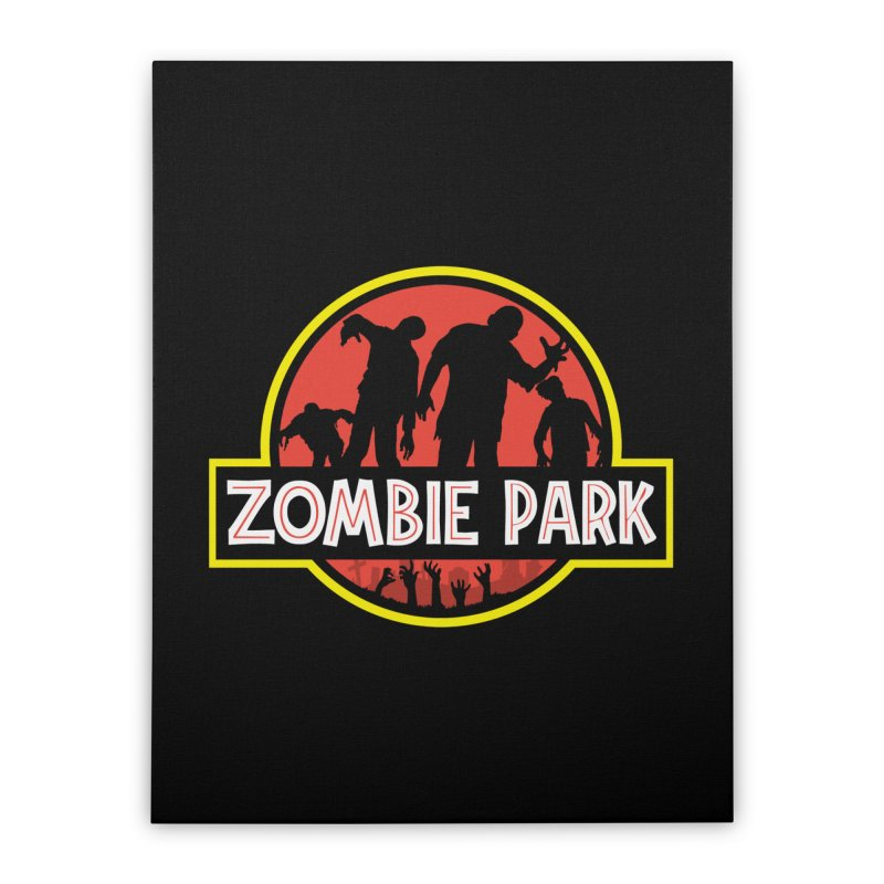 Zombie Park Home Stretched Canvas by clingcling's Artist Shop