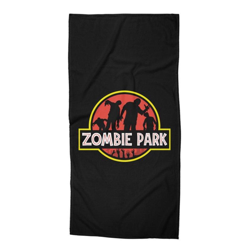 Zombie Park Accessories Beach Towel by clingcling's Artist Shop