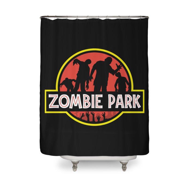 Zombie Park Home Shower Curtain by clingcling's Artist Shop