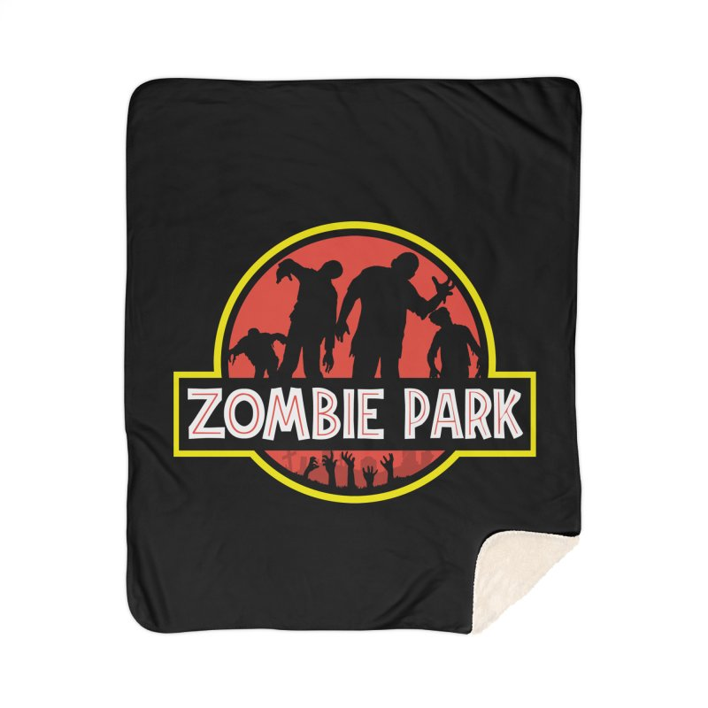 Zombie Park Home Sherpa Blanket Blanket by clingcling's Artist Shop