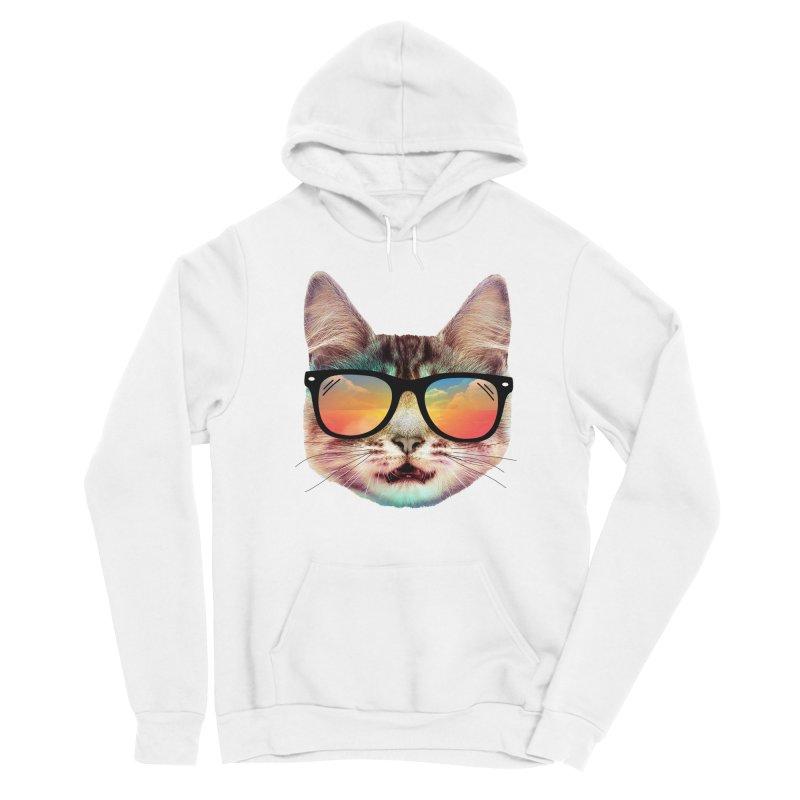 House cat summer Men's Sponge Fleece Pullover Hoody by clingcling's artist shop
