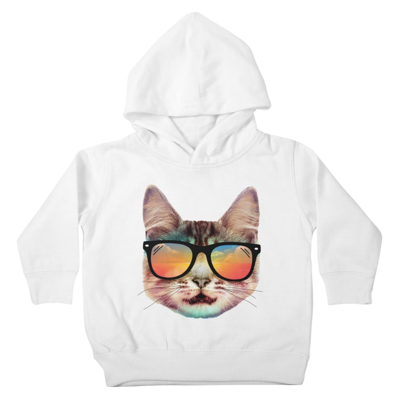 House cat summer Kids Toddler Pullover Hoody by clingcling's artist shop