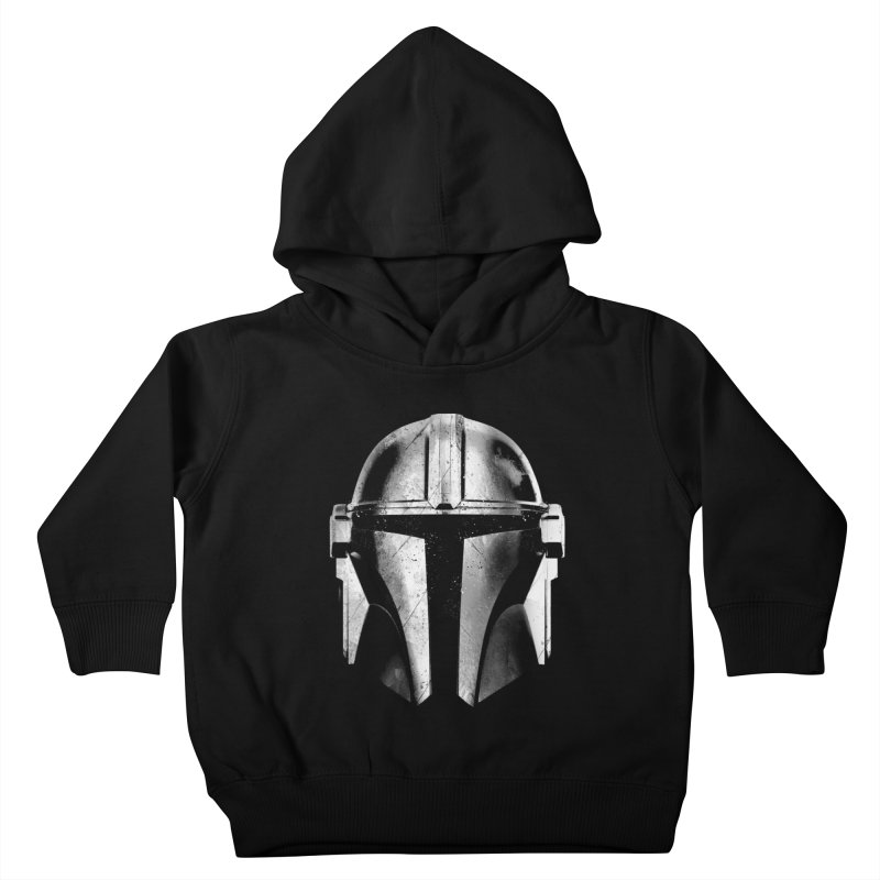 mandalorian soldier (B&W) Kids Toddler Pullover Hoody by clingcling's artist shop