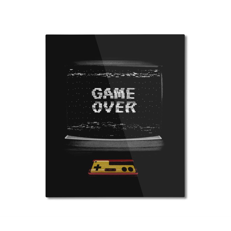 Game over Home Mounted Aluminum Print by clingcling's artist shop