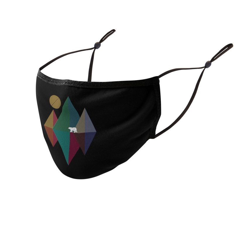 Geometry mountain bear Accessories Face Mask by clingcling's artist shop
