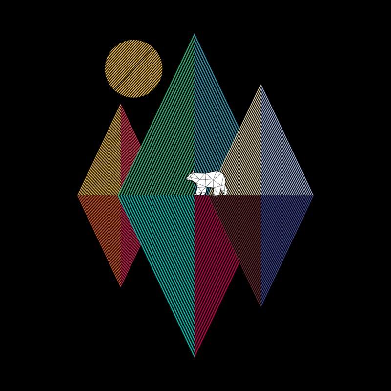 Geometry mountain bear Home Mounted Aluminum Print by clingcling's artist shop