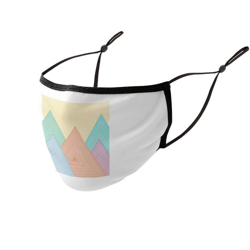 Geometry Mountain Accessories Face Mask by clingcling's artist shop