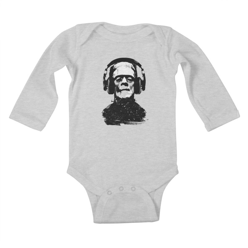 Music makes me alive Kids Baby Longsleeve Bodysuit by clingcling's artist shop