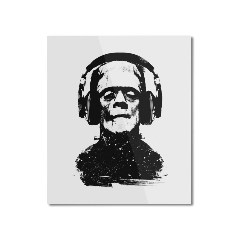 Music makes me alive Home Mounted Aluminum Print by clingcling's artist shop