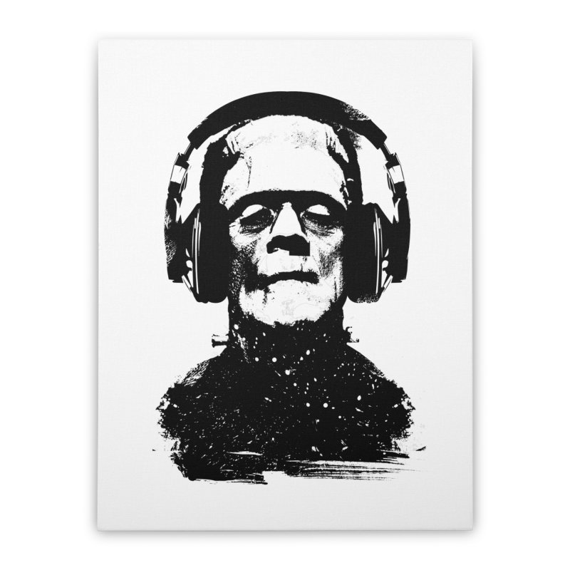Music makes me alive Home Stretched Canvas by clingcling's artist shop