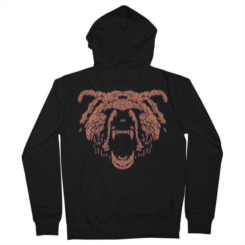 Abstract Bear Men's Zip-Up Hoody by clingcling's artist shop