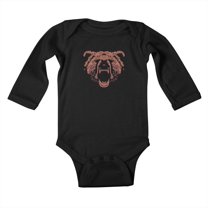 Abstract Bear Kids Baby Longsleeve Bodysuit by clingcling's artist shop