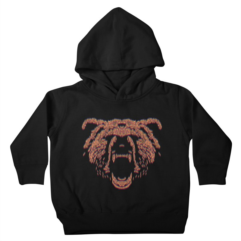 Abstract Bear Kids Toddler Pullover Hoody by clingcling's artist shop
