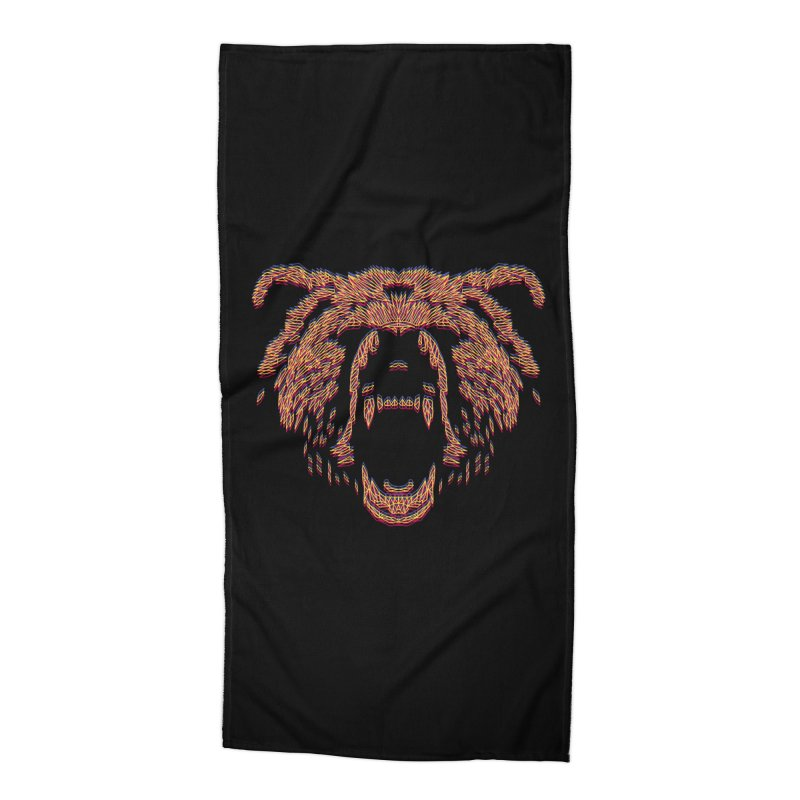 Abstract Bear Accessories Beach Towel by clingcling's artist shop