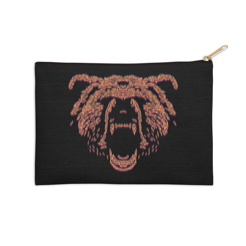 Abstract Bear Accessories Zip Pouch by clingcling's artist shop
