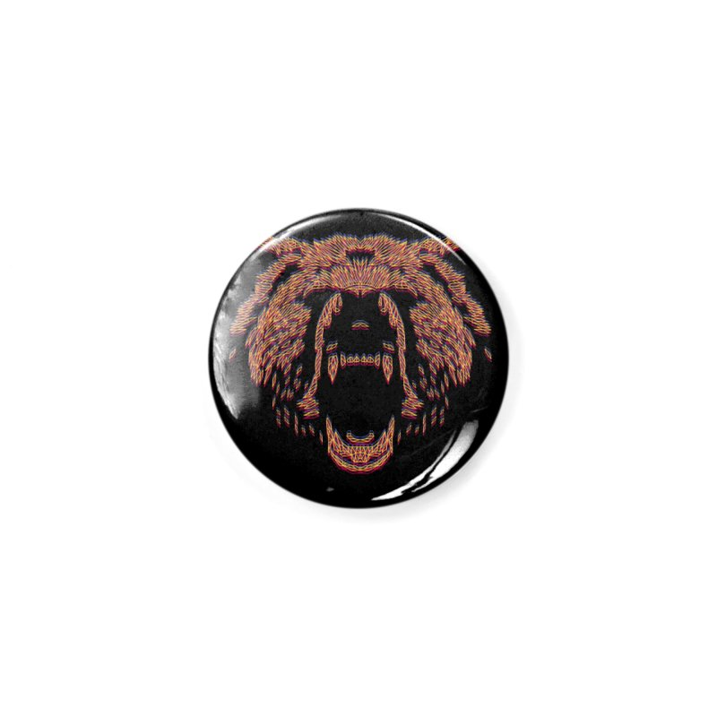 Abstract Bear Accessories Button by clingcling's artist shop