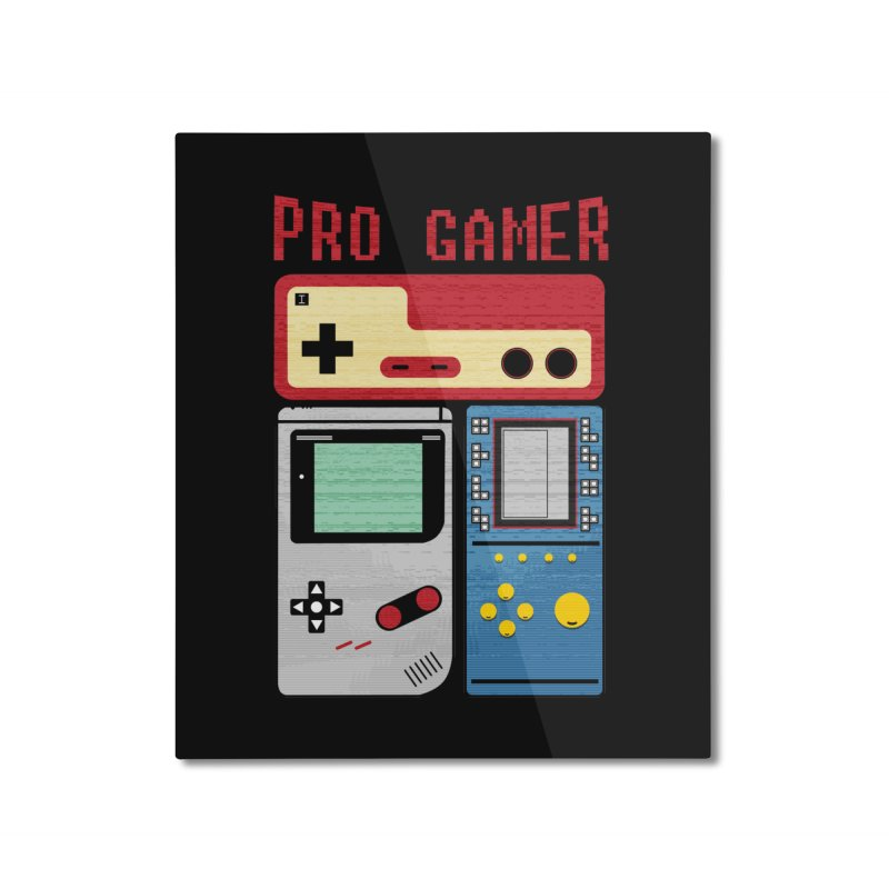 Pro Gamer Home Mounted Aluminum Print by clingcling's artist shop