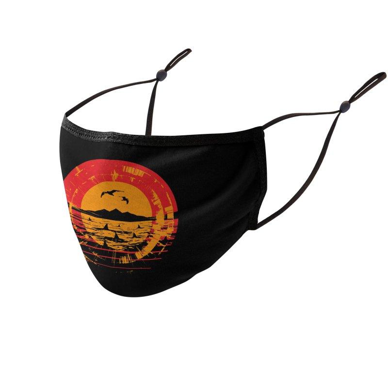 Shark Island Accessories Face Mask by clingcling's artist shop
