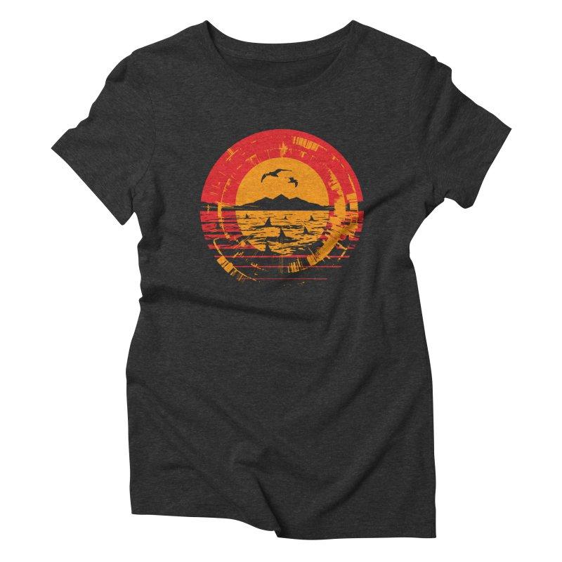 Shark Island Women's T-Shirt by clingcling's artist shop