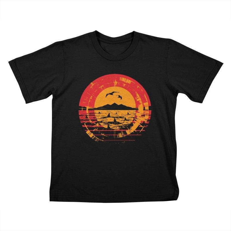 Shark Island Kids T-Shirt by clingcling's artist shop