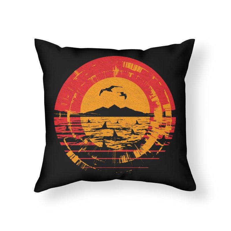 Shark Island Home Throw Pillow by clingcling's artist shop