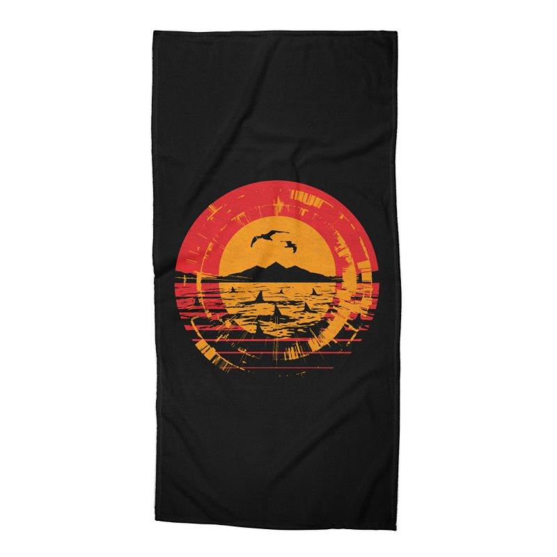 Shark Island Accessories Beach Towel by clingcling's artist shop