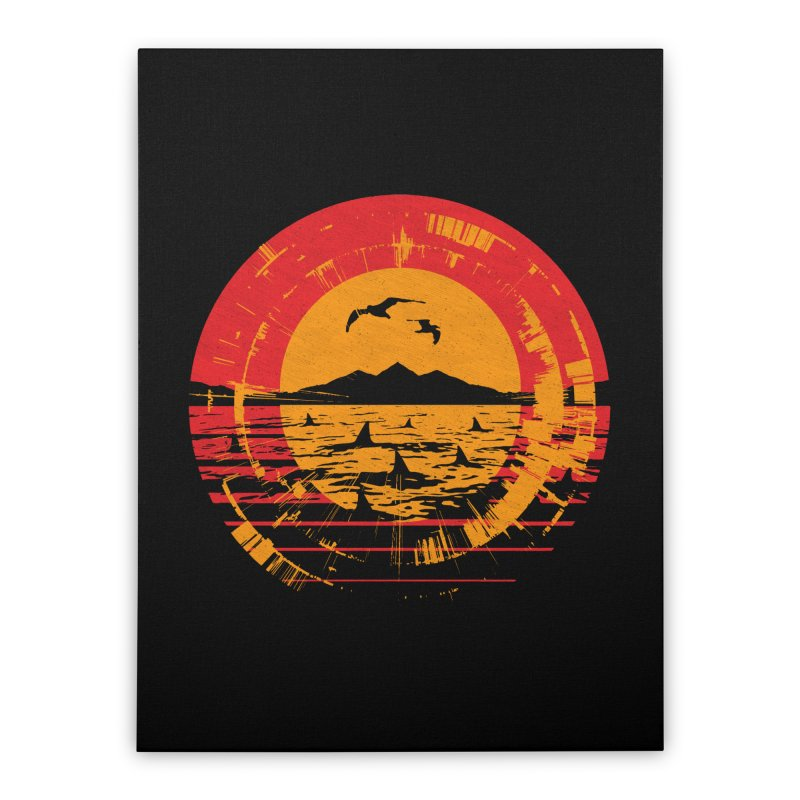 Shark Island Home Stretched Canvas by clingcling's artist shop