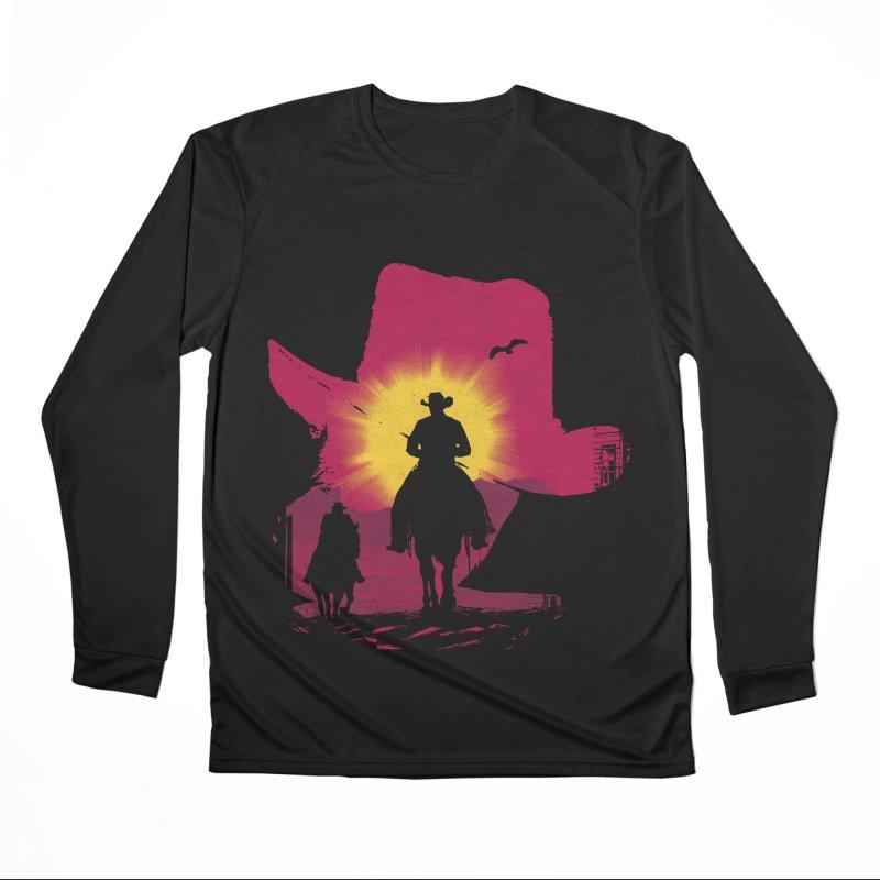 Sunset Rider Men's Longsleeve T-Shirt by clingcling's artist shop