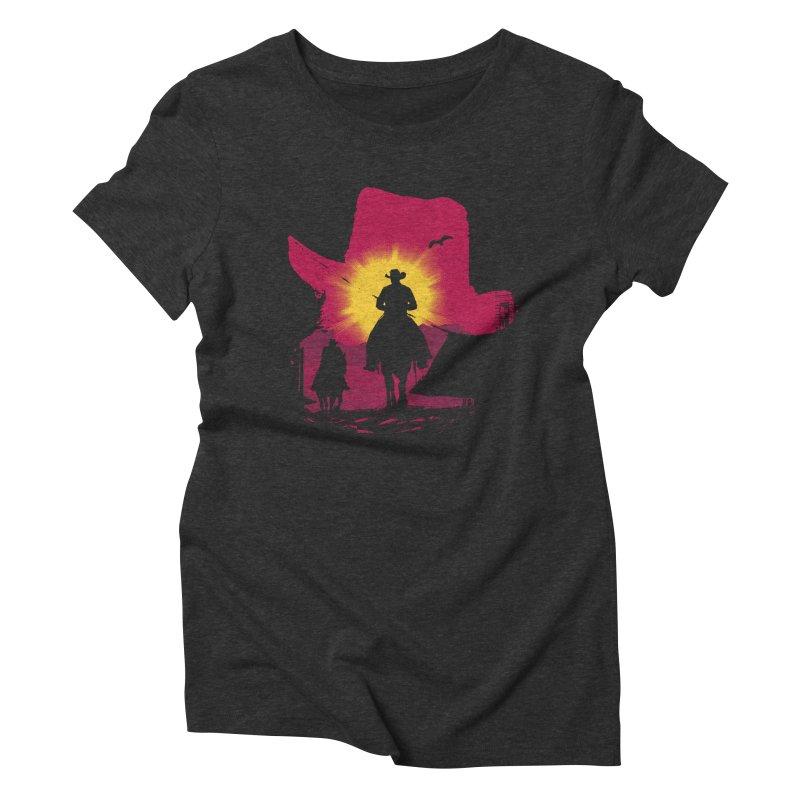 Sunset Rider Women's T-Shirt by clingcling's artist shop