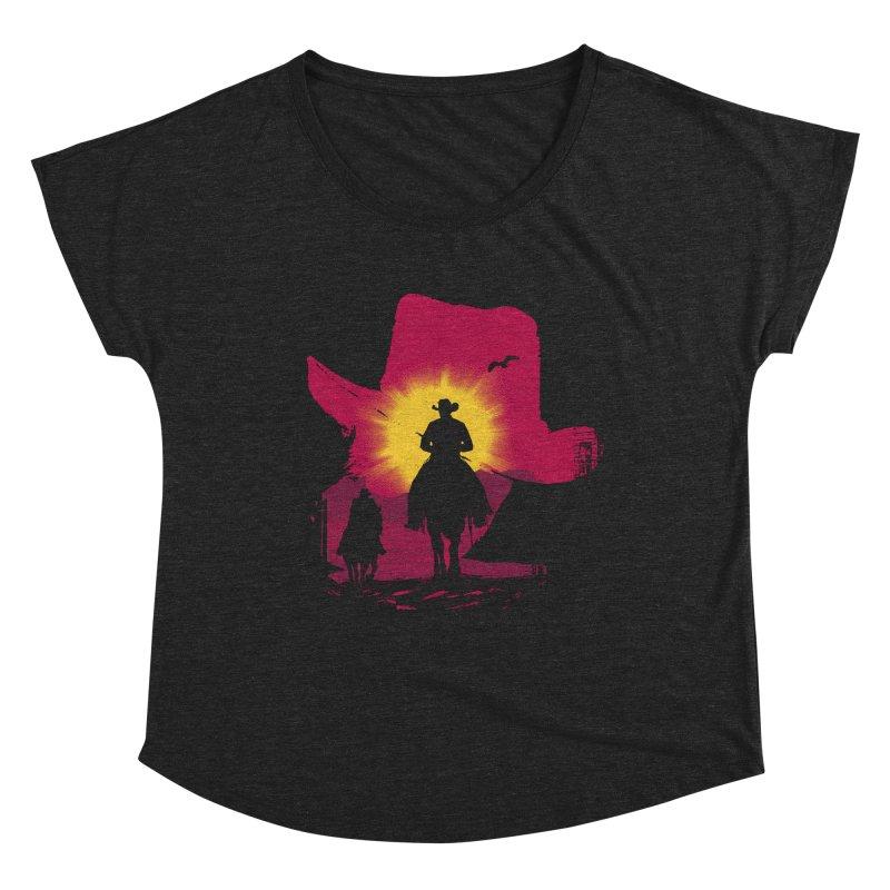 Sunset Rider Women's Scoop Neck by clingcling's artist shop