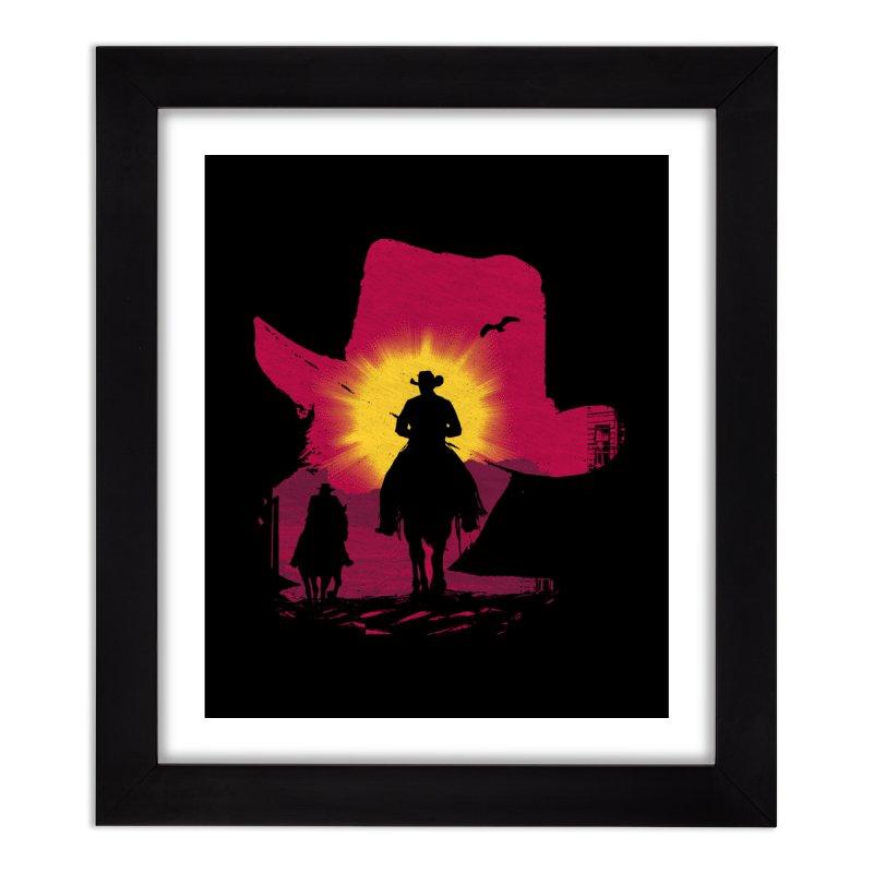 Sunset Rider Home Framed Fine Art Print by clingcling's artist shop