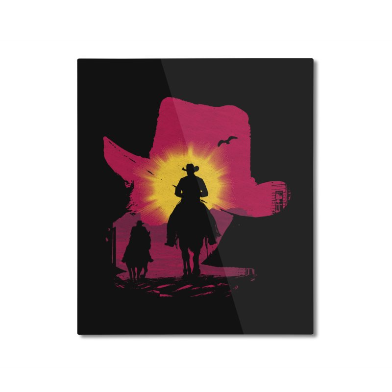 Sunset Rider Home Mounted Aluminum Print by clingcling's artist shop