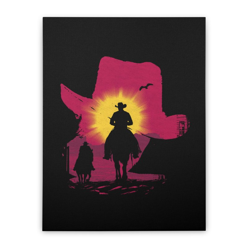 Sunset Rider Home Stretched Canvas by clingcling's artist shop