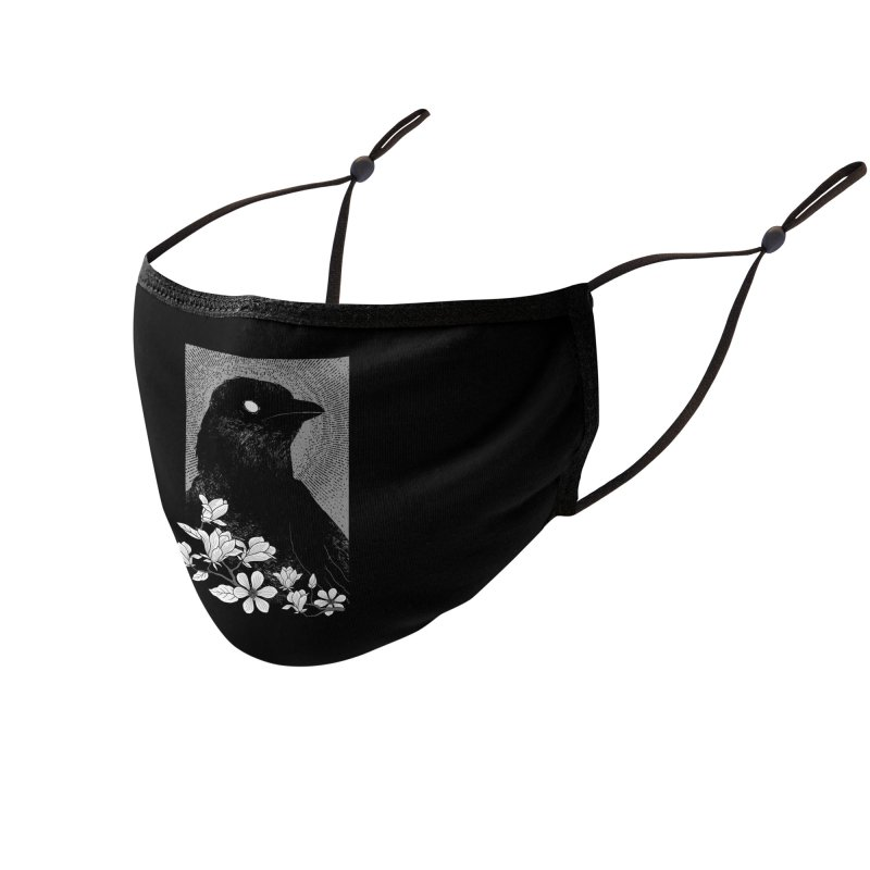The Raven Accessories Face Mask by clingcling's artist shop