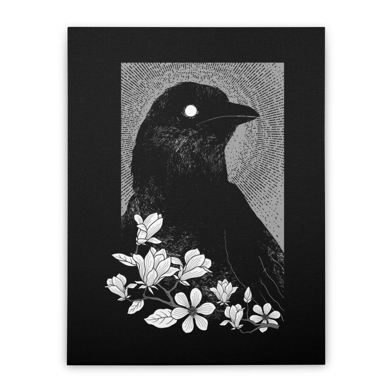 The Raven Home Stretched Canvas by clingcling's artist shop