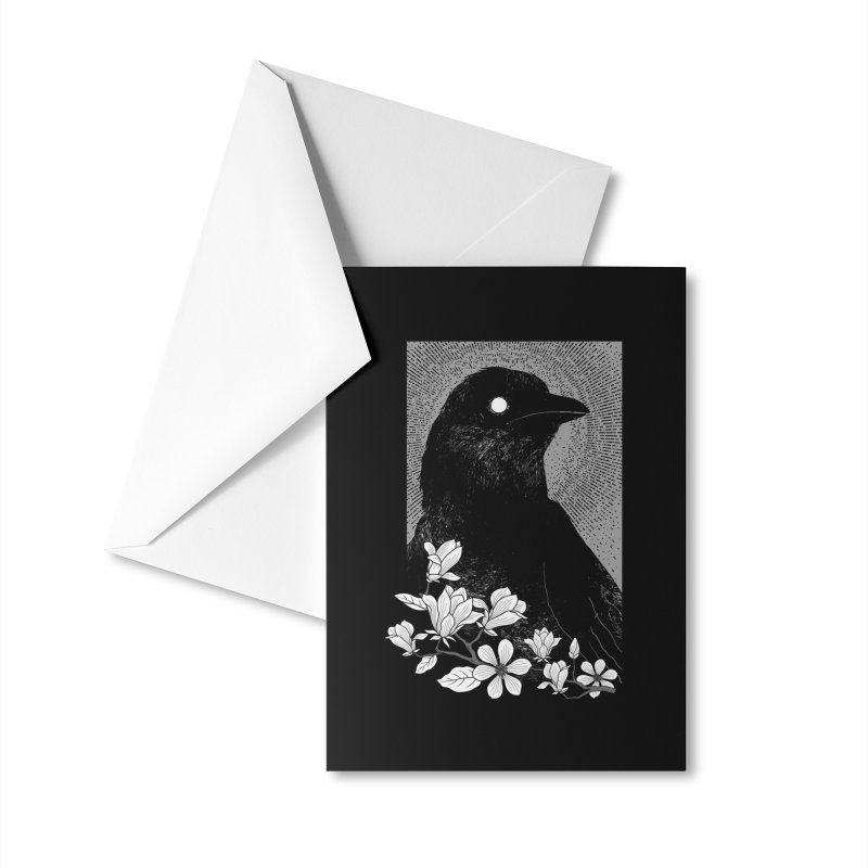 The Raven Accessories Greeting Card by clingcling's artist shop