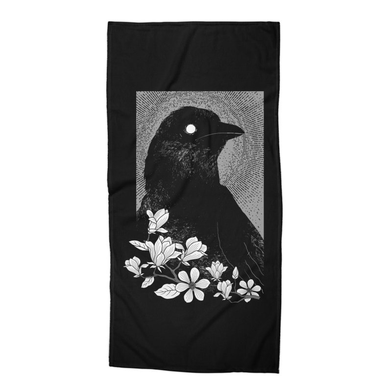 The Raven Accessories Beach Towel by clingcling's artist shop